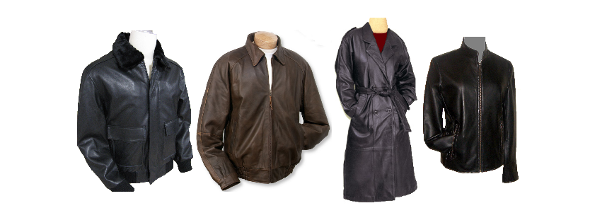 Leather coats and leather jackets on sale at discounted prices